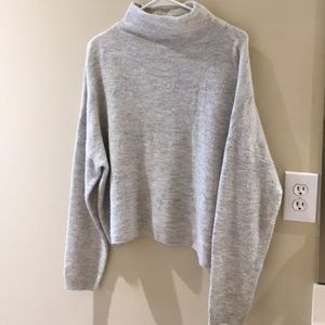 Gray New Look Turtle-Neck Wool Sweater
